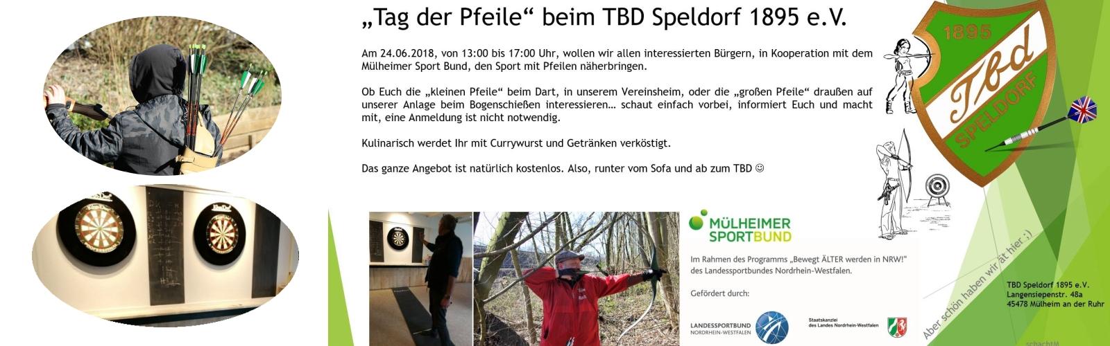 """Tag der Pfeile"""" beim TBD Speldorf 1895 e.V."""